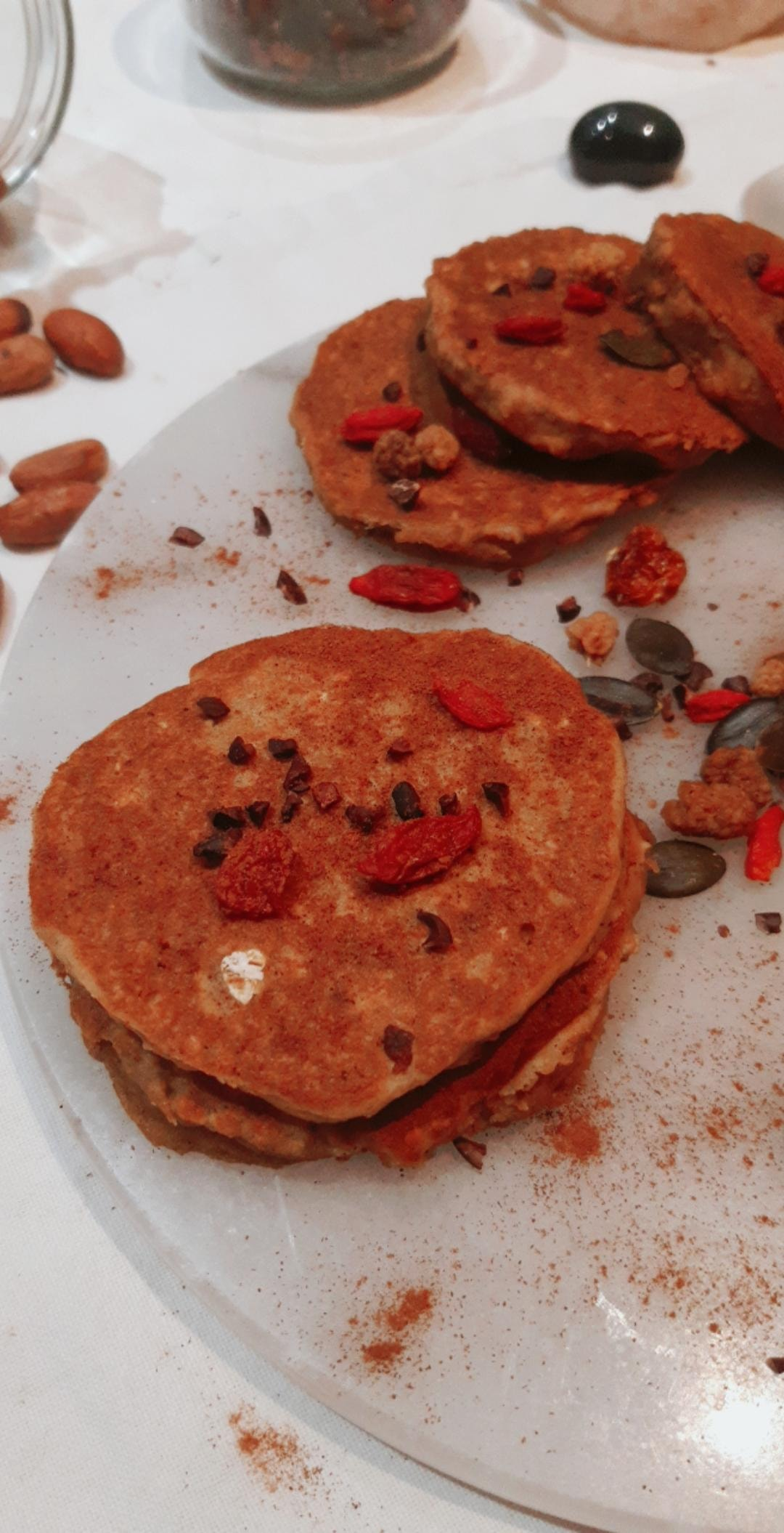 Minis Pancakes aux pois chiches